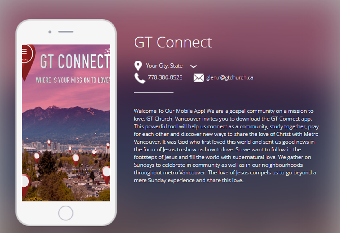 GT Connect Church App