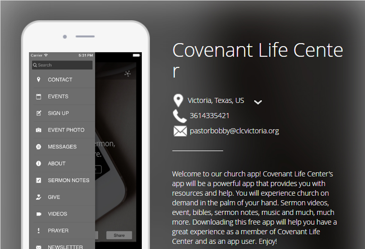Covenant Life Center Church App