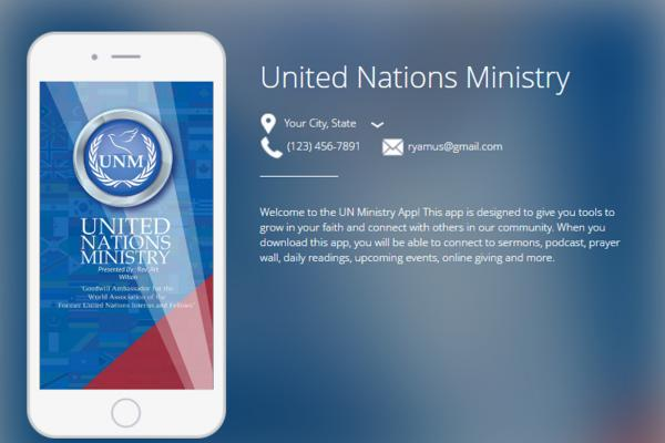 United Nations Ministry Church App
